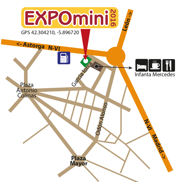 Mapa EXPOmini 2016