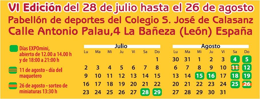 Calendario de Expomini 2018